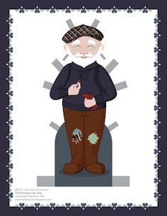 Paper Doll School: December Paper Doll -- Santa Claus Paper Doll,  Outfit 1