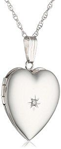 "14k White Gold Heart Locket Necklace with Diamond-Accent, 18""  Product ViewSee larger image and other views (with zoom)Product Screenshots http://ecx.images-amazon.com/images/I/31zIGOK9GjL._SL300_.jpg http://electmejewellery.com/jewelry/necklaces/lockets/14k-white-gold-heart-locket-necklace-with-diamondaccent-18-com/"