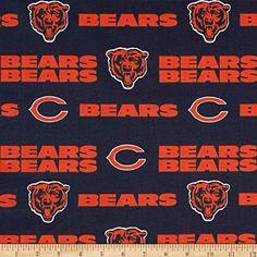 Chicago Bears Nfc Nfl Cotton Fabric 6316 D By The Yard Football Navy Football, Football Team, Bears Football, C Bear, Handmade Sheet, Nfl Chicago Bears, Chicago Chicago, Nfl Logo, Bear Print