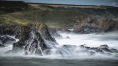 White Wash - A long exposure, landscape image of water pouring off the rocks near Portsoy in Morayshire, Scotland.