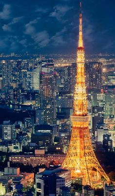Tokyo Tower, Japan. Go to www.YourTravelVideos.com or just click on photo for home videos and much more on sites like this.