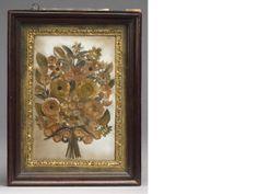 An 18th century strawwork picture