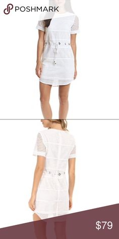Make An Offer MK eyelet /drawcord dress Michael Kors drawstring and eyelet dress with crew neck. Short sleeve. Color: white : fabric : 100% cotton condition: excellent MICHAEL Michael Kors Dresses