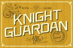 Knight Guardan typeface by adit saputra, via Behance