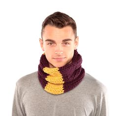 Purple and Yellow Cowl