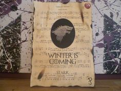 Game of Thrones House of Stark Sigil with Moto by Inmyheartdesigns, £9.99