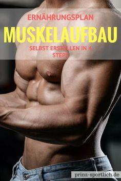 Ihr trainiert knallhart, wisst aber nicht, wie ihr euch ernähren müsst, um Muskeln aufzubauen?! Hier erfahrt ihr, wie ihr in nur 4 Steps einen persönlichen Ernährungsplan für Muskelaufbau erstellen könnt... Mehr zu Fitness & Ernährung findet ihr auf meinem Blog!