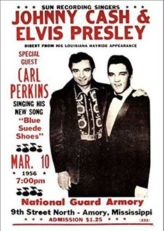 'Johnny Cash & Elvis Presley' At The National Guard Armory - Wonderful A4…