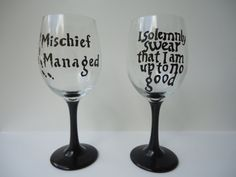 Wine glasses.