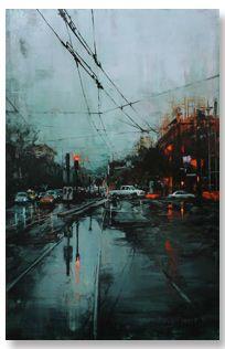 "The Edge of Realism   Lindsey Kustusch   ""First Rain""   Abend Gallery Fine Art and Custom Framing"