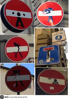 Because road signs are too mainstream, Italy