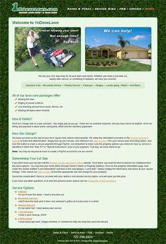 1nDoneLawn - web design, xhtml/css, ecommerce, custom Google map