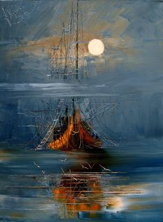 See Justyna Kopania related art work. Find beautiful Original Art , Canvas Transfers and Art Reproductions of contemporary masters. Abstract Painting Easy, Abstract Wall Art, Sailboat Art, Sailboats, Paintings Famous, Oil Paintings, Expressionist Artists, Oil Painting Texture, Photo Art