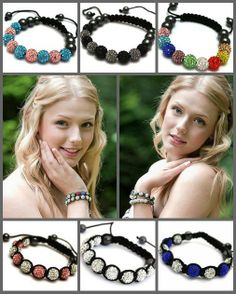 Swarovski Elements Shamballa #Bracelets Over 70 #colours to choose from - Hurry selling out quick! Shop @ http://www.completethelookz.co.uk/shamballa-jewellery/Crystal-Swarovski-shamballa-bracelets