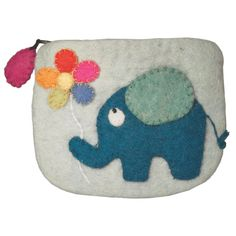 Fair Trade Felt Coin Purse - Jumbo -  handmade by artisans in Nepal available at Alternatives Global Marketplace
