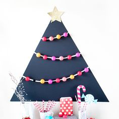 Attach EOS lip balm to a black matte board for a fun holiday party favors! Allow each guest to pick one off the tree!