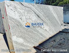 Sira Grey Granite Slabsgives a sophisticated and classy look to the space. It is used in interior and exterior decoration, floorings and countertops in residential and commercial buildings. We manufacture high-grade sira grey granite slabs which are highly durable and have a fine glaze. These slabs are available in various sizes and thickness. These slabs are acclaimed for their stability We will provide you the best Sira Grey Granite at the best price . 👇contact for any queary👇 👉Bhutra… Granite Tops, Granite Slab, Black Granite, Granite Suppliers, Marble Price, Exterior Decoration, Italian Marble, How To Look Classy, Stability