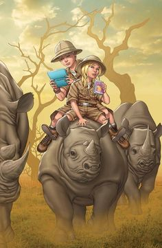 Franklin Richards and Valeria Richards by Mike Choi