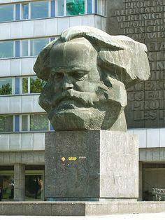 Bust of Karl Marx  in Chemnitz