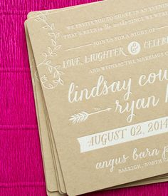 Oh So Beautiful Paper: Lindasy + Ryan's Modern Boho Wedding Invitations