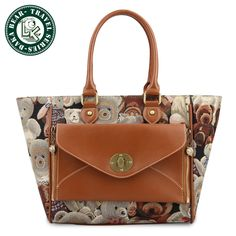DAKA BEAR Retro Canvas Backpack Rucksack Girls School Fashion Shoulder Hand Bag