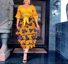 Online Hub For Fashion Beauty And Health: Stunningly Stylish Ankara Multi Layers Skirt Desig... #NigerianWeddings
