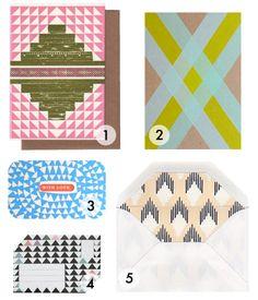 geometric snail mail - Cotton & Flax
