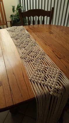 Macrame table runners Wedding table decor by TIEDbyLoretta on Etsy