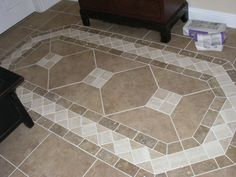 Stone Tile Flooring, Entryway Flooring, Granite Flooring, Kitchen Flooring, Foyer Design, Tile Design, House Design, Floor Patterns, Tile Patterns