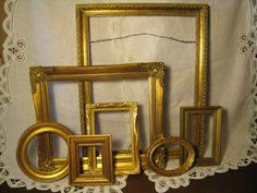Gold Ornate Frame Set / Grouping  Gallery Wall by WestTexasVintage, $85.00