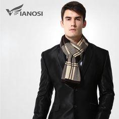 #BestPrice #Fashion [VIANOSI] Wool Plaid Scarf Man Winter Brand Scarf Men Fashion Designer Shawl Bussiness Casual Scarves MA009