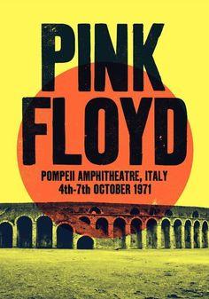 Pink Floyd Pompeii concert poster Pink Floyd print music by TheIndoorType Rock Vintage, Vintage Music, Vintage Style, Pop Rock, Rock And Roll, Imagenes Pink Floyd, Pink Floyd Pompeii, Arte Pink Floyd, Pink Floyd Tour