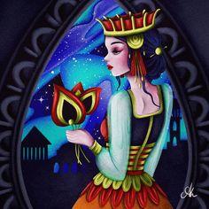 Aurora Borealis Art Print by AOdesign - X-Small Art Challenge, Aurora Borealis, Digital Illustration, Fantasy Art, Princess Zelda, Watercolor, Art Prints, Projects, Fictional Characters