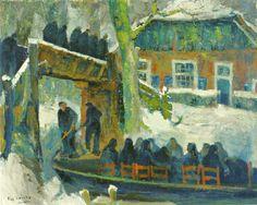 Piet Zwiers Begrafenisstoet in Giethoorn. Dutch Painters, Dutch Artists, Memento Mori, Netherlands, Museum, Death, Painting, City, Kunst