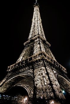 Eiffel Tower | Eiffel Tower Lights at night in Paris, France… | Hesweptlime | Flickr