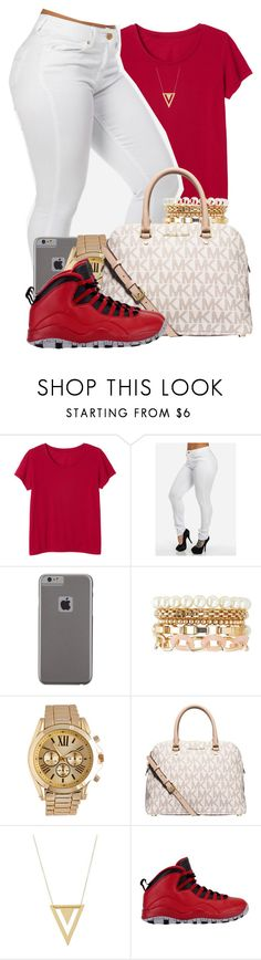 """""""This okay I guess."""" by mindlesspolyvore ❤ liked on Polyvore featuring Monki, Case-Mate, Charlotte Russe, Wet Seal, MICHAEL Michael Kors, Gorjana, women's clothing, women's fashion, women and female"""
