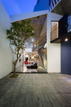 Adplus Studio 3 Houses Folded Roof Ho Chi Minh City Designboom