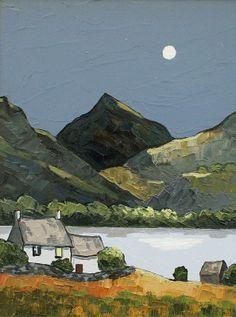 British Artist David BARNES - Snowdonian Night
