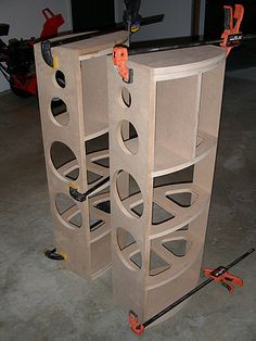DIY mains and center – Page 2 – Home Theater Forum and Systems – HomeTheaterShac… – Harry Parmentier – Hometheaters Home Speakers, Home Theater Speakers, Built In Speakers, Green Shelves, Car Audio Installation, New Technology Gadgets, Speaker Box Design, Speaker Plans, Home Theater Furniture