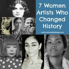 Women artists from around the globe to share with children during Woman's History Month. Learn about the art and lives of seven amazing women.