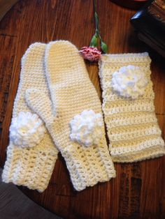 Cherry cream gloves & headband