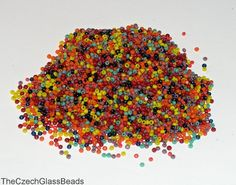 5g Original Czech Seed Beads 13/0 color mix 317. by TheCzechGlassBeads on Etsy