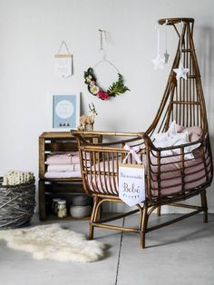 Adorable Ways to Decorate Rattan Bassinet Above a Baby Crib ⋆ Main Dekor Network