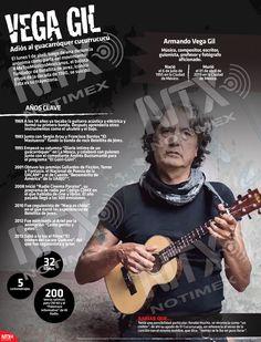 En la #InfografíaNTX rendimos homenaje al guacarróquer cucurrucucú, conoce la trayectoria de Armando Vega Gil. Musical, Movie Posters, Movies, Composers, Writers, Cute, Art, Films, Film