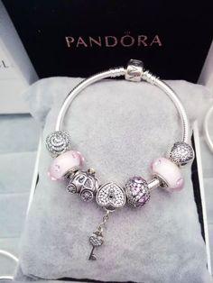 50% OFF!!! $199 Pandora Charm Bracelet Pink. Hot Sale!!! SKU: CB01584 - PANDORA Bracelet Ideas
