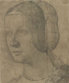 Anonymous Italian Artist | Portrait of a Woman with Hairnet | The Morgan Library & Museum