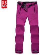 US $26.51 outdoor Winter ski pants women solft shell pants plus size waterproof snow pants thicken fleece hiking pant snowboard trousers. Aliexpress product