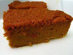 Jamaican Carrot Cake With Carrots, Beaten Eggs, Brown Sugar, Flour, Oil, Vanilla, Cinnamon, Nutmeg, Mixed Spice, Baking Soda, Salt