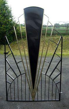 Art Deco Gates | Sunburst art deco gate