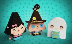 Dewmuffins Halloween Paper Toys - Free printables